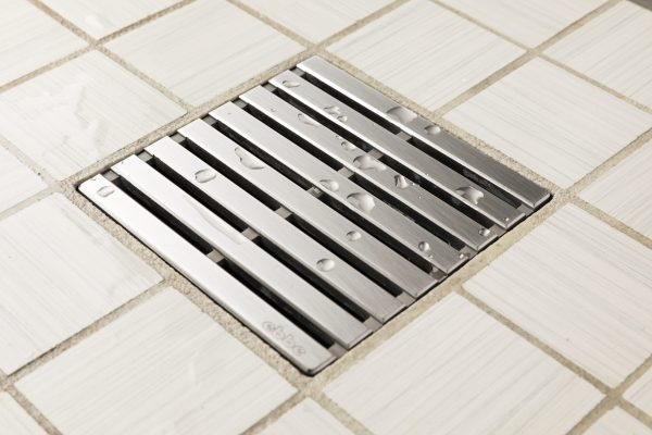 E4811-SS - Ebbe UNIQUE Drain Cover - PARALLEL - Satin Stainless Steel - Shower Drain - aw