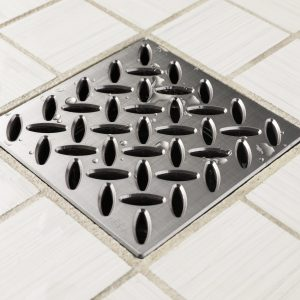 E4813-BS - Ebbe UNIQUE Drain Cover - DIAMOND - Brushed Stainless Steel - Shower Drain - aw