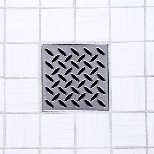 E4811-PC - Ebbe UNIQUE Drain Cover - PARALLEL - Polished Chrome - Shower Drain - ad
