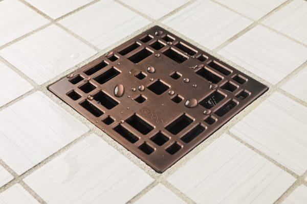 E4801-ORB - Ebbe UNIQUE Drain Cover - PRAIRIE - Oil Rubbed Bronze (PVD) - Shower Drain - aw1