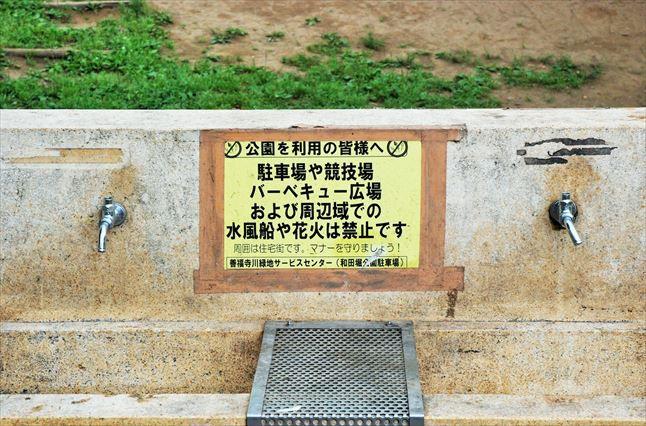 和田堀公園BBQ 水洗い場