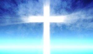 cross blue sky