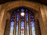 Ebenezer Lutheran Church stained glass window