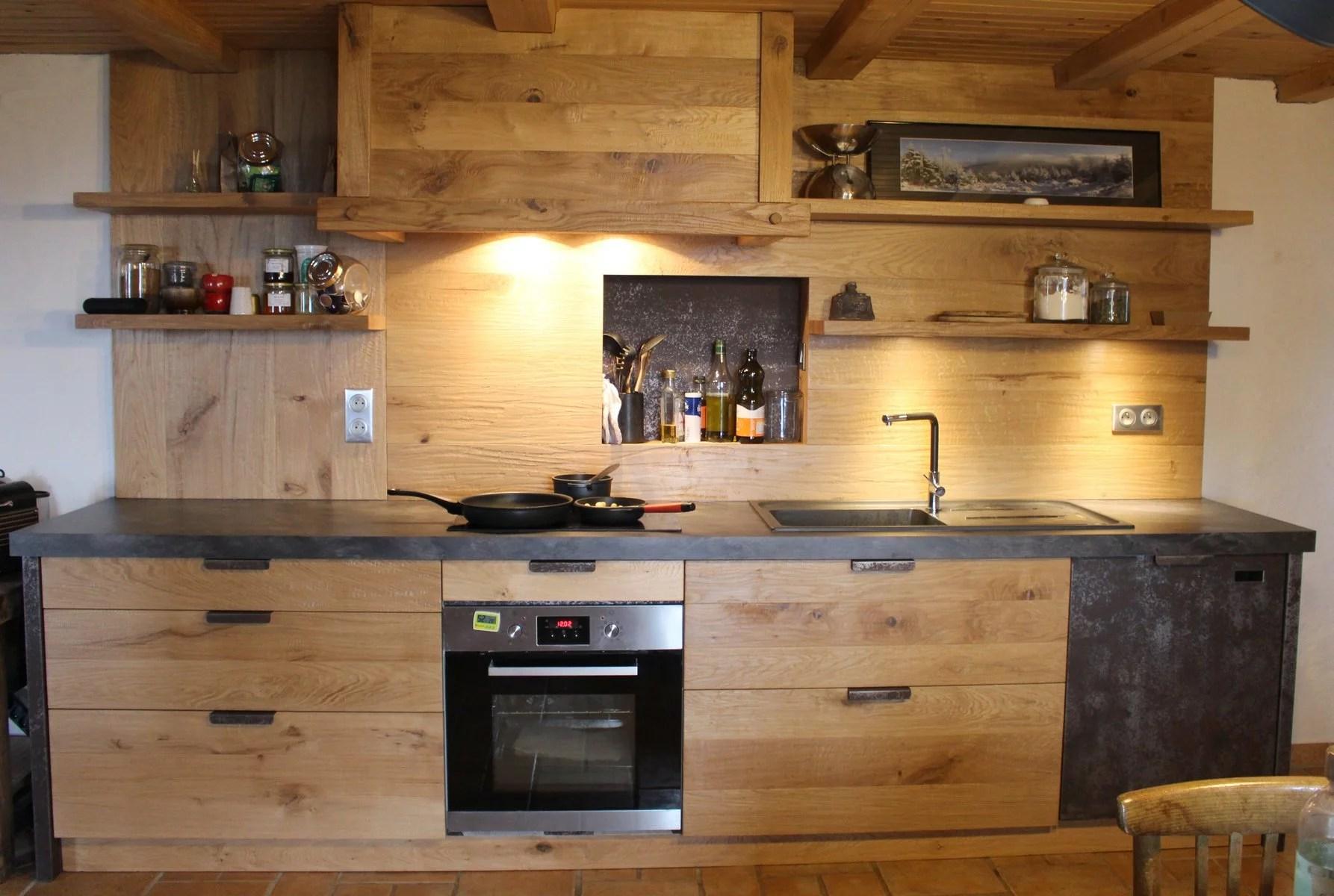 cuisine bois et ardoise