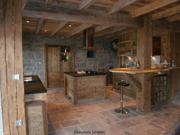 cuisines bois rustiques menuiserie