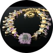 Amethyst asymmetric necklace