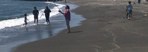 鮭釣り_白老の浜2