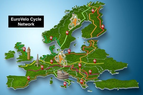 EuroVelo Cycle Network graphic