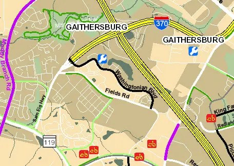 Montgomery County Bikeways GIS Map E-bike Lovers