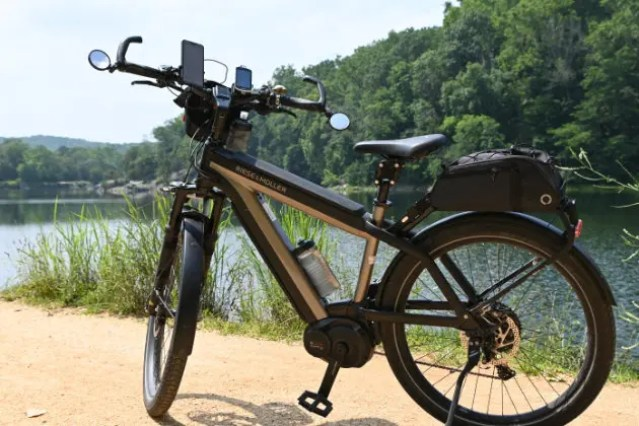 A picture of Riese & Muller Supercharger on the Canal Towpath of the C&O canal
