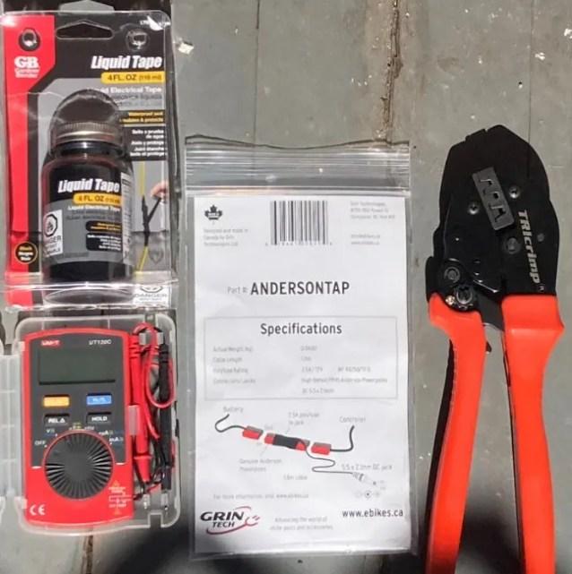 An E-bike tool kit