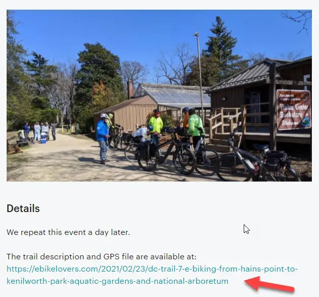 Step 1 - Visit the Meetup page of ebikelovers
