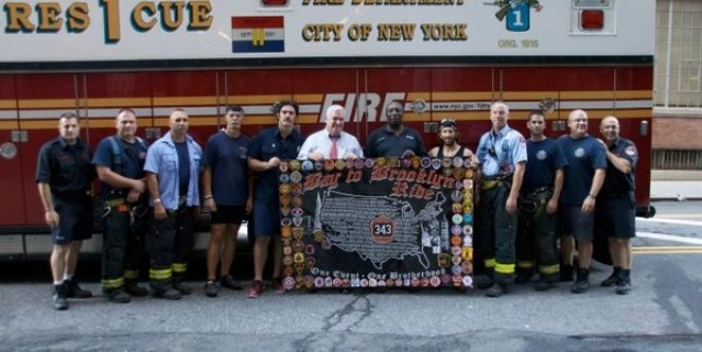 The crew of the San Francisco Bay Area to ride to the Brooklyn Bridge and Ground Zero Bay to Brooklyn ride in 2011. Picture courtesy of https://bay2brooklyn2021.com