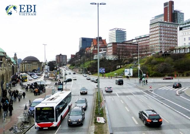Thành phố Hamburg tại Đức.