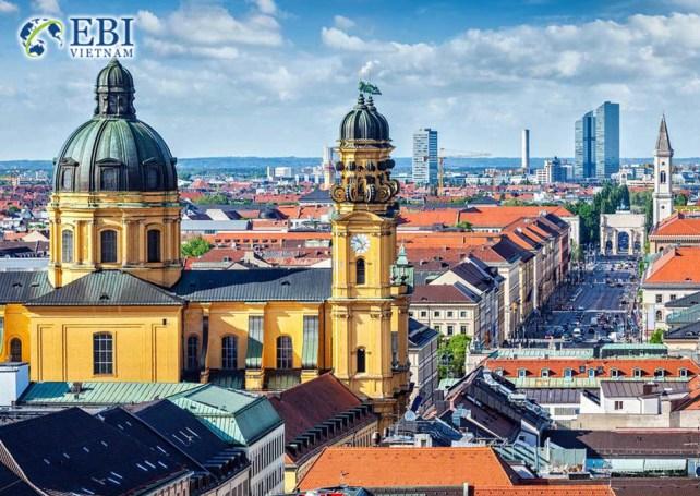 Thành phố Munich tại Đức.