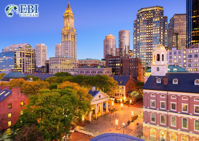 Du học Mỹ tại bang Massachusetts..