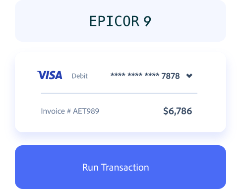 Epicor 9 Payment Processing