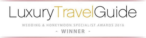 Luxury Travel Guide 2016 Wedding & Honeymoon Specialist Award Winner