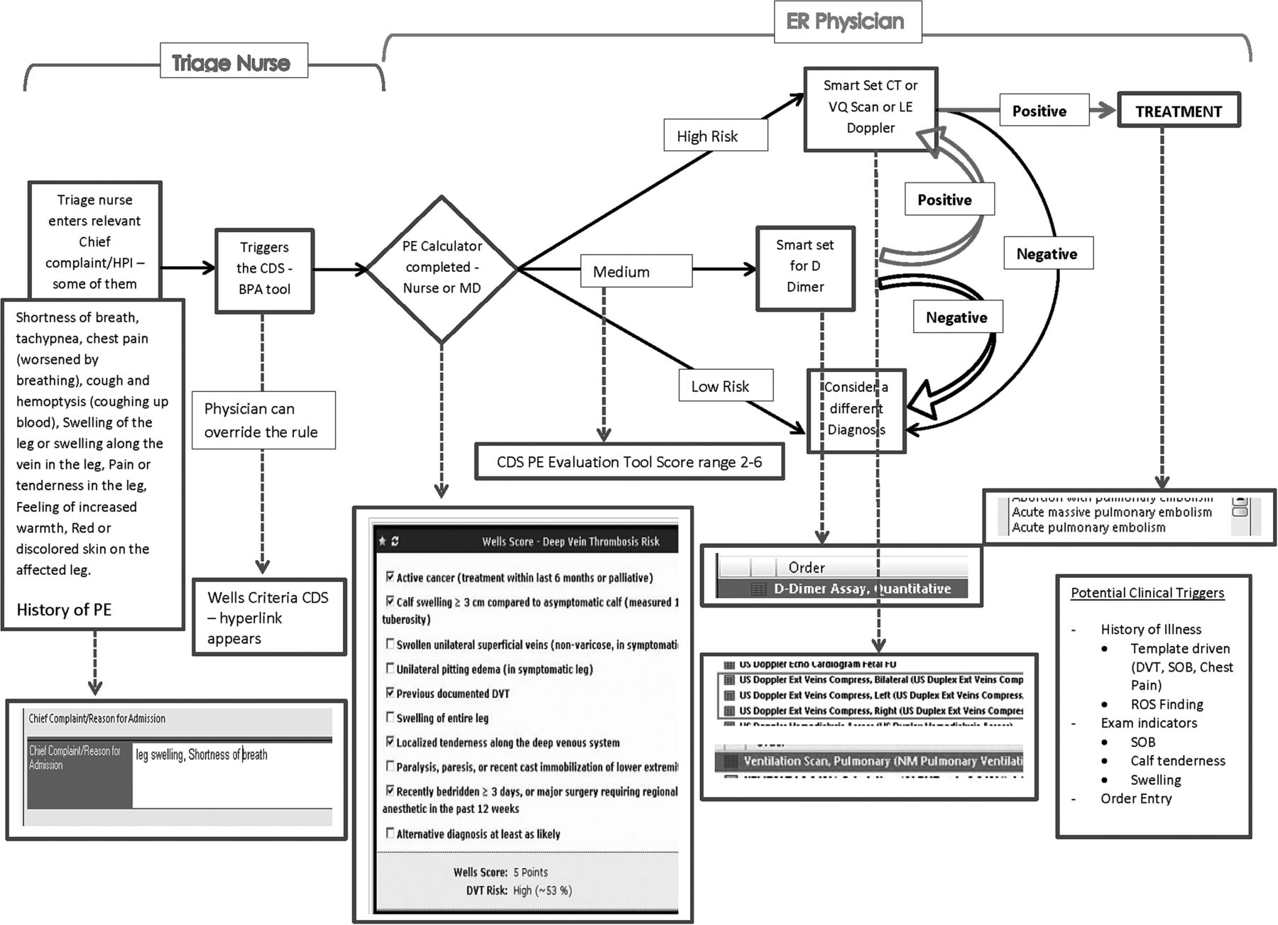 Formative assessment and design of a complex clinical decision support tool for pulmonary