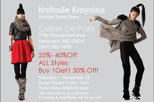HOLIDAY TRUNK SHOW -  NATHALIE KRAYNINA COLLECTION