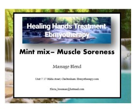 labels - Mint mix muscle soreness