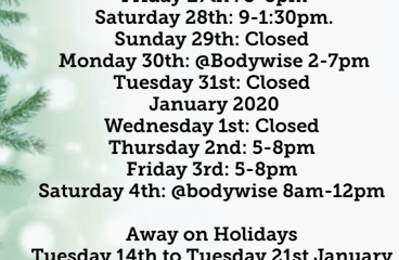 EbMyotherapy Christmas Hours,Gift vouchers and Massage blends to buy