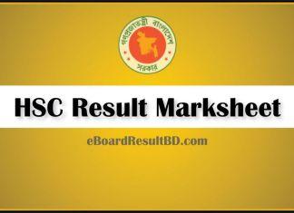 HSC Result Marksheet 2020
