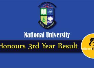 NU Honours 3rd Year Result