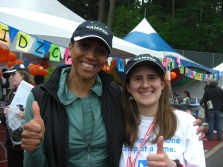 Charmaine Crooks and I at the Easter Seals 24 Hour Relay.