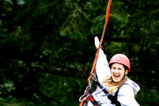 A shot of me on the Big Swing at the Easter Seals camp located in Squamish.