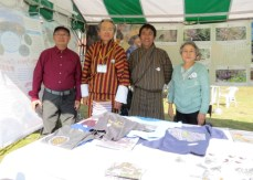 Fellow foreign participants Norbu from Bhutan and Sam Chan from Hong Kong. Bhutan won the best booth during the 16th JBF