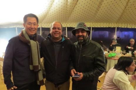 With Nikhil Devasar, organizer of the Uttar Pradesh Bird Festival and Sanjay Tiwari.