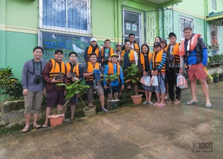 Group photo at the Protected Area Office of Naujan Lake National Park