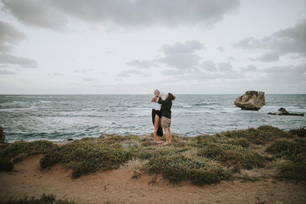 Cape Peron Engagement Photography | Lesbian Couples Shoot | Perth Wedding Photographer | Perth Same Sex Wedding Photographer | Lesbian Engagement Photos | Ebony Blush Photography | Jax + Vix