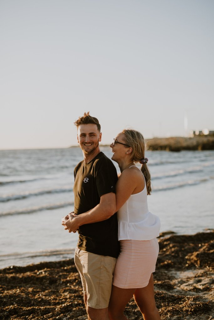 Aaron+Lauren | Fremantle Engagement Photography | Freo Beach | Ebony Blush Photography| Fremantle Pre-Wedding Photography
