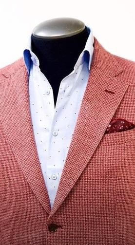 Mens red and white checked jacket - Wealthy Wearz - Ebonydirectory.jpg