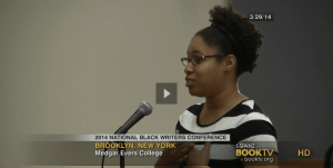Ebonye Gussine Wilkins at the 2014 National Black Writers Conference