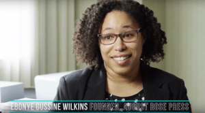 Ebonye Gussine Wilkins at Publishing University 2017 in Portland, Oregon
