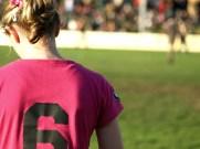 girl umpires in pink, go girls