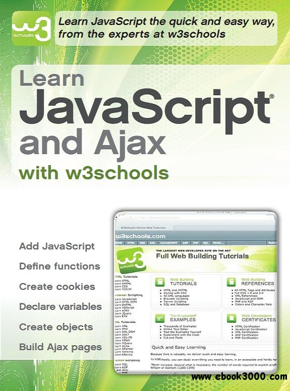 Learn JavaScript and Ajax with w3Schools - Free eBooks Download