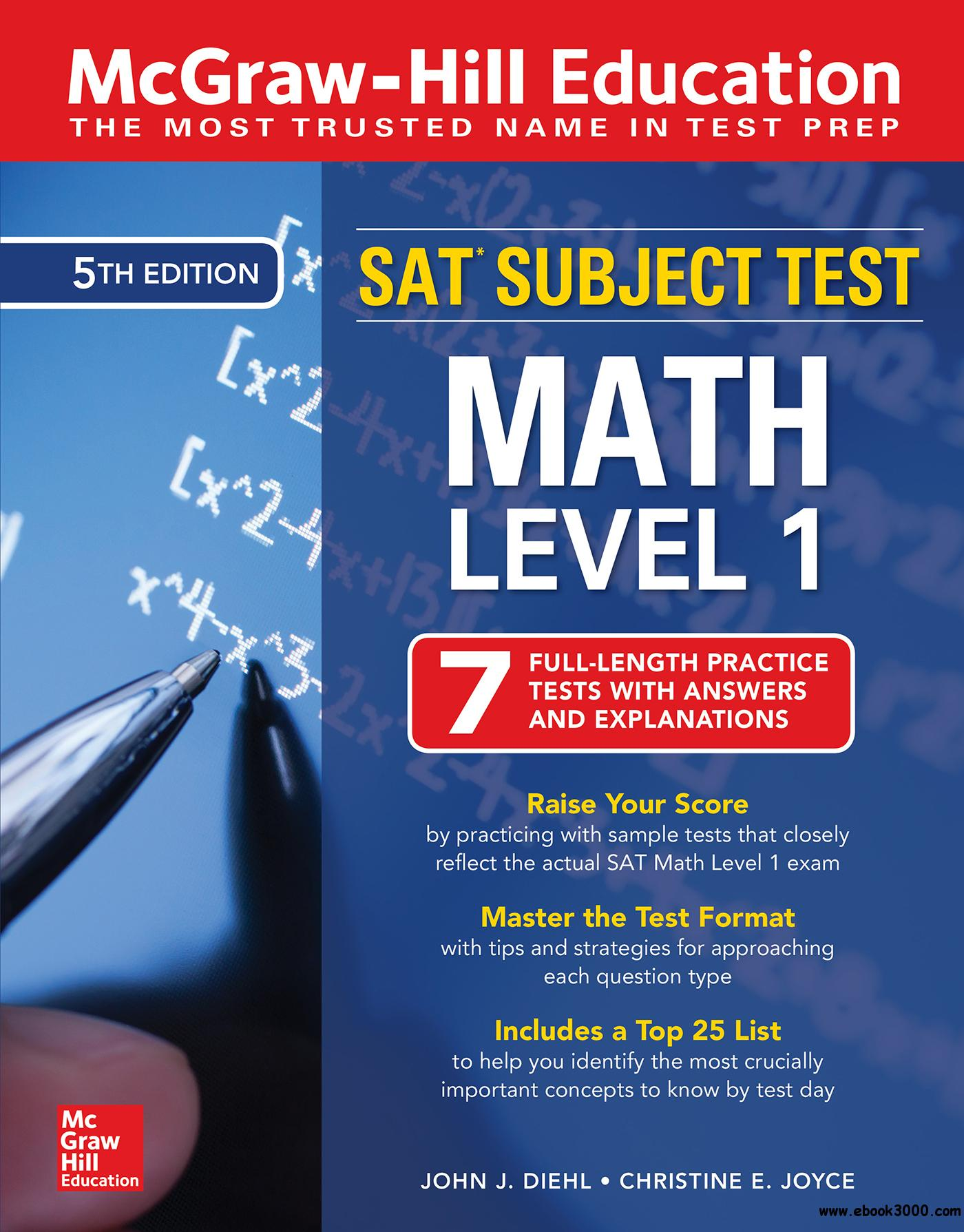 Mcgraw Hill Education Sat Subject Test Math Level 1 5th