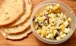 Kalamata Egg Salad for lunch