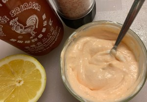 Sriracha Lemon Yogurt Dipping Sauce