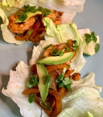 Easy shrimp fajitas on a weeknight