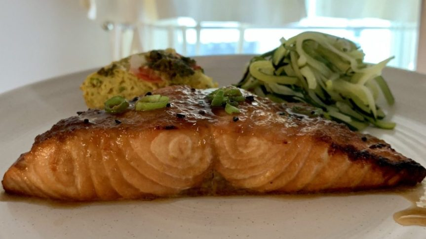 Salmon Sunday on FoodieBook Friday?! | Sweet and Spicy Sriracha Salmon Sunday Glaze
