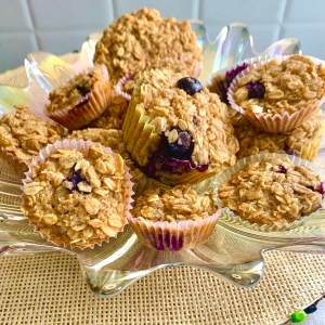 Baked Oatmeal Banana Blueberry Pecan Cups