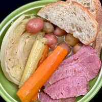 Jiggs Dinner - Corned Beef, Cabbage and Veggies
