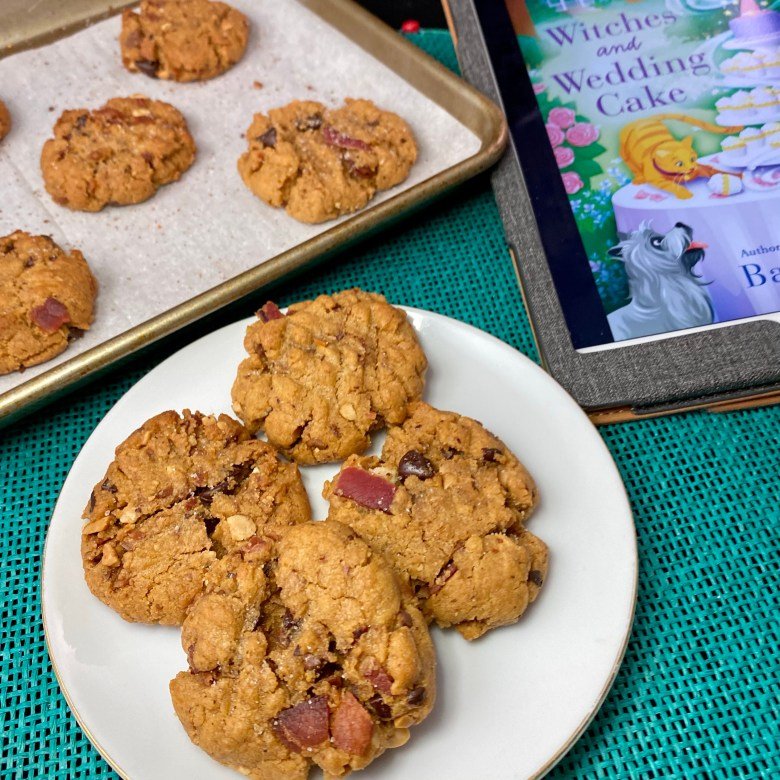 food and books blog bacon peanut butter cookies