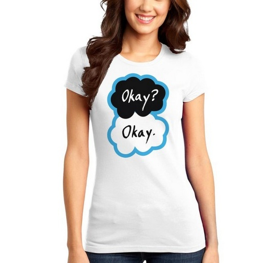 """Okay? Okay"" Womens' Juniors T-Shirt"