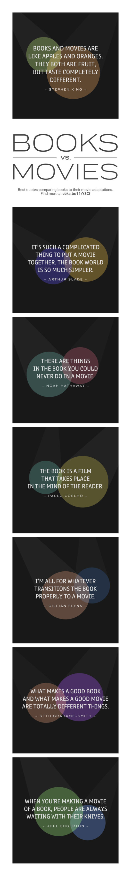 Best Quotes From Books And Movies : quotes, books, movies, Quotes, Comparing, Books, Movies